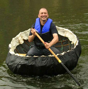 Coracle made with willow